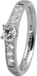 Кольцо CC 800-3.8.A/51 Topaz Princess silver  - Дека