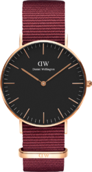 Часы Daniel Wellington DW00100273 Classic 36 Roselyn RG Black — ДЕКА