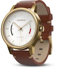 Смарт-часы Garmin Vívomove Premium, Gold-Tone Steel with Leather Band - Дека