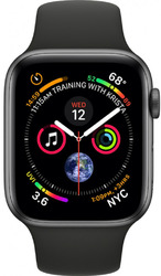 Смарт-часы Apple Watch Series 4 44mm Space Grey Aluminium Case with Black Sport Band - Дека